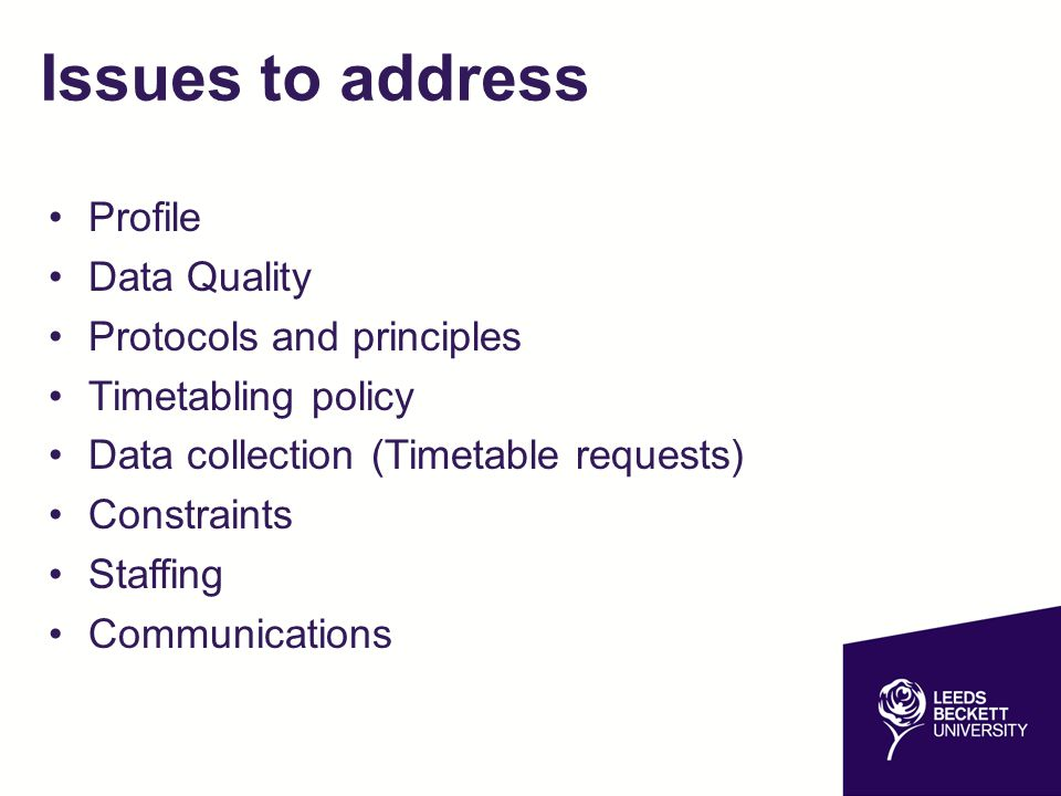 Issues to address Profile Data Quality Protocols and principles