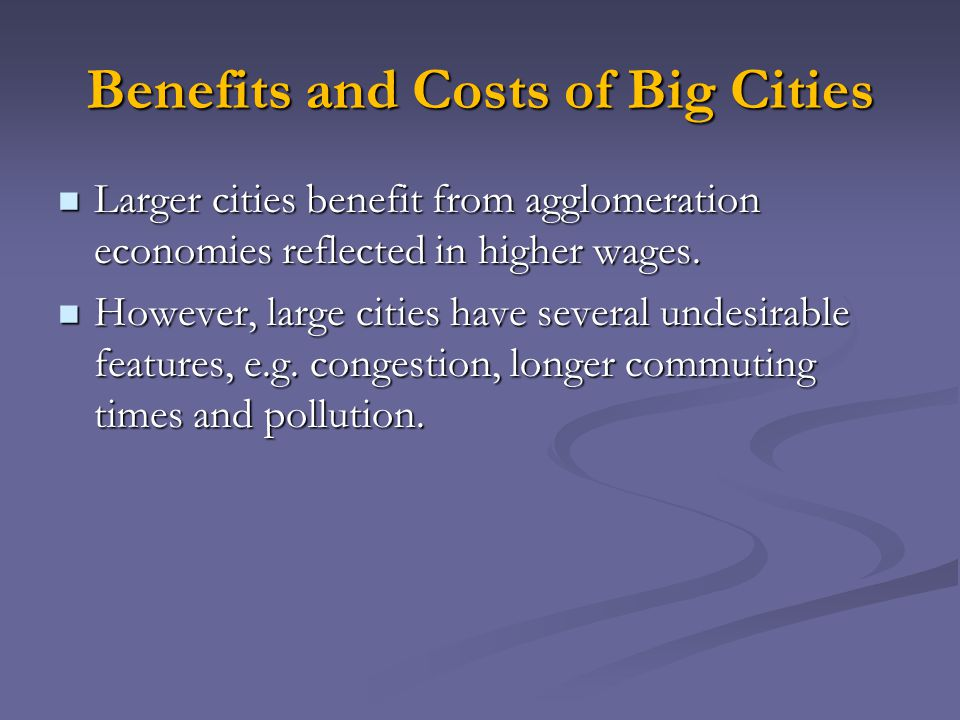 Benefits and Costs of Big Cities