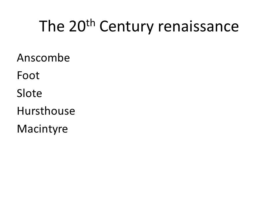 The 20th Century renaissance