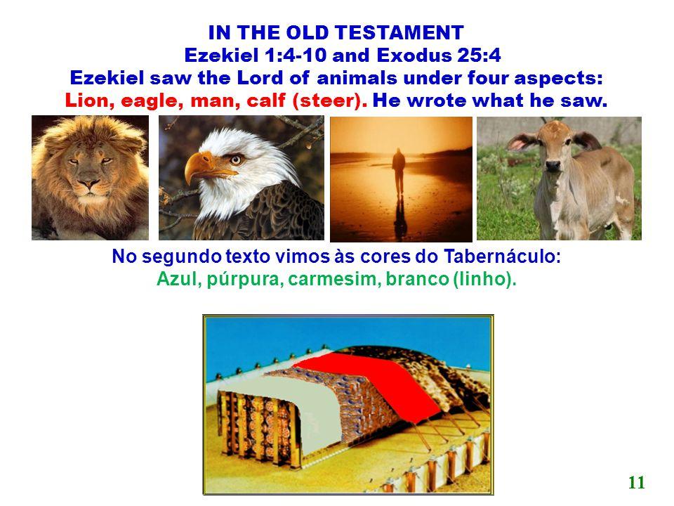 No segundo texto vimos às cores do Tabernáculo: