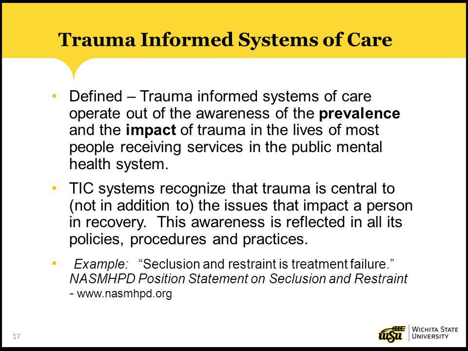 Trauma Informed Systems of Care