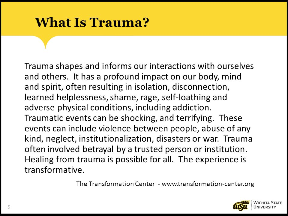 What Is Trauma