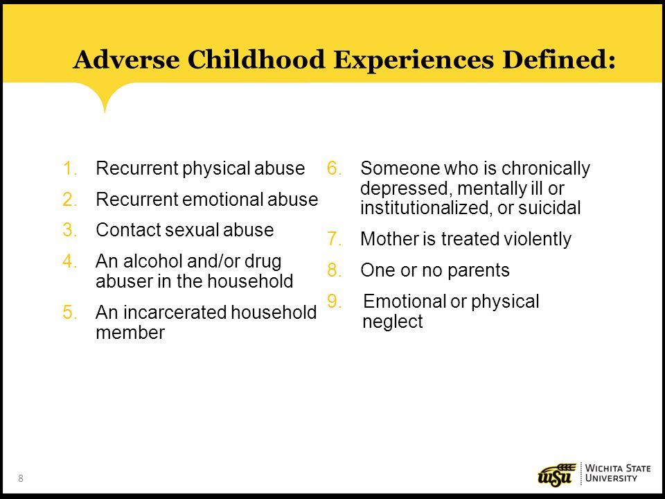 Adverse Childhood Experiences Defined: