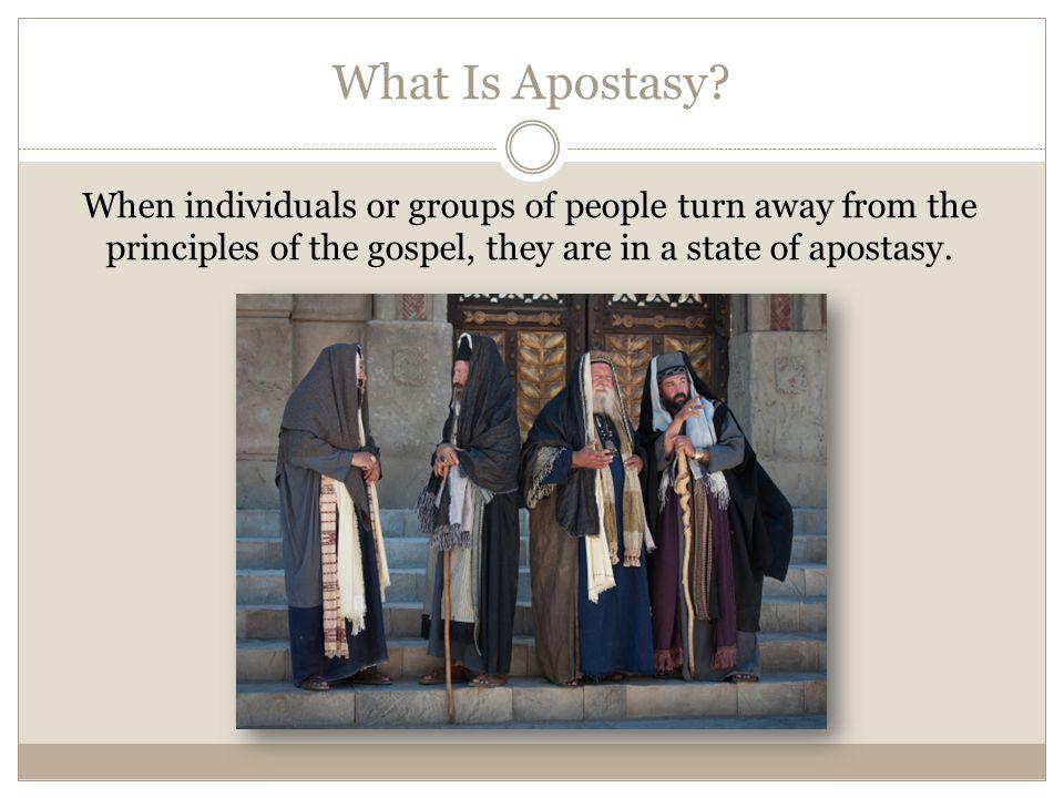 What Is Apostasy.