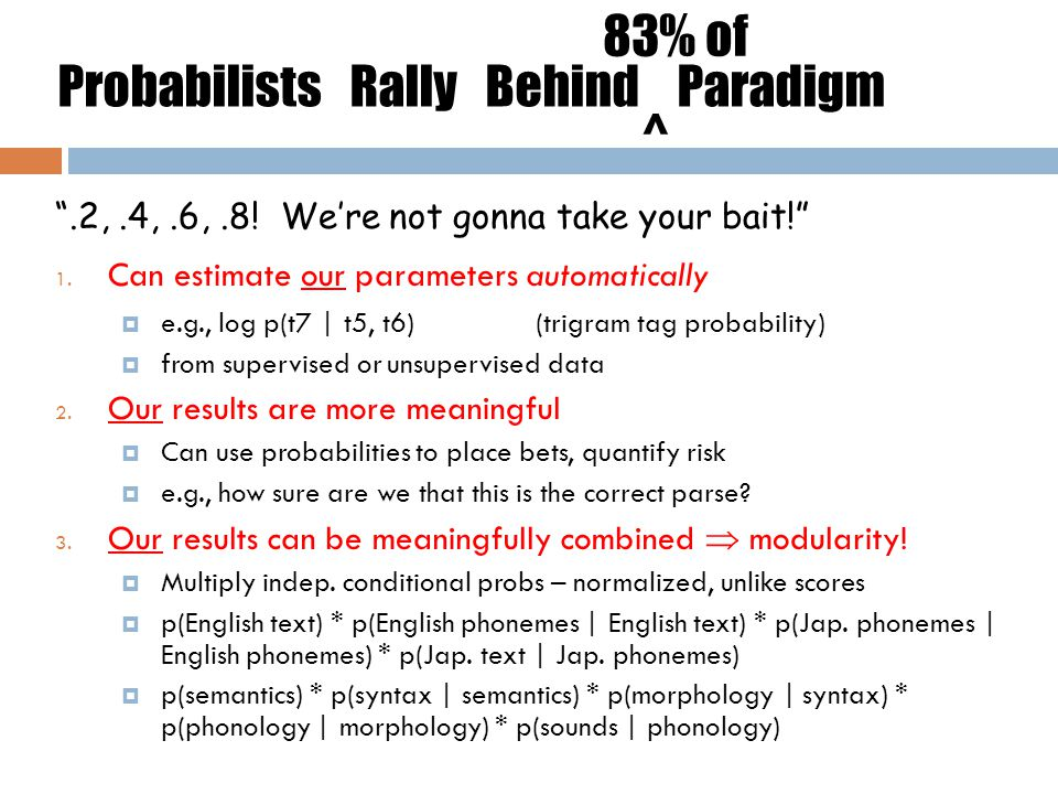 Probabilists Rally Behind Paradigm