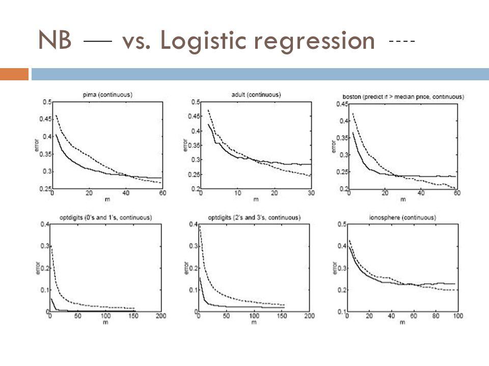 NB vs. Logistic regression