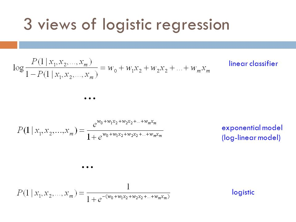3 views of logistic regression