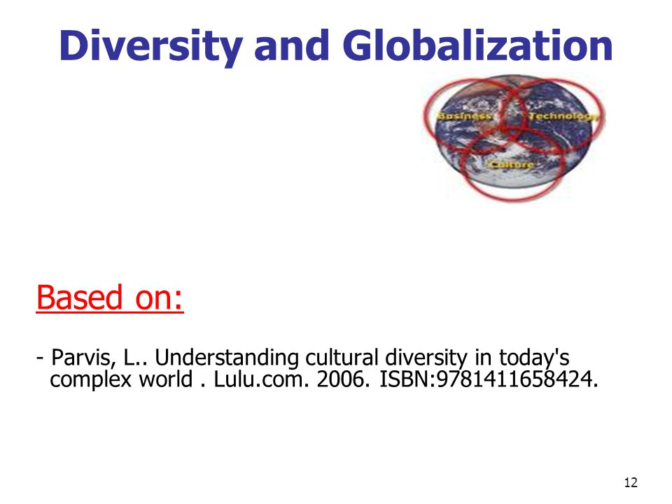 Diversity and Globalization