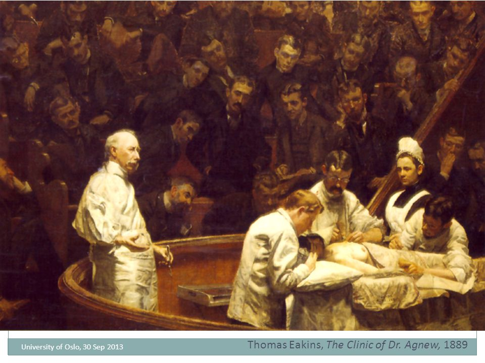 Thomas Eakins, The Clinic of Dr. Agnew, 1889