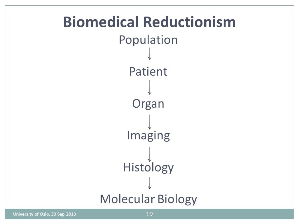 Biomedical Reductionism