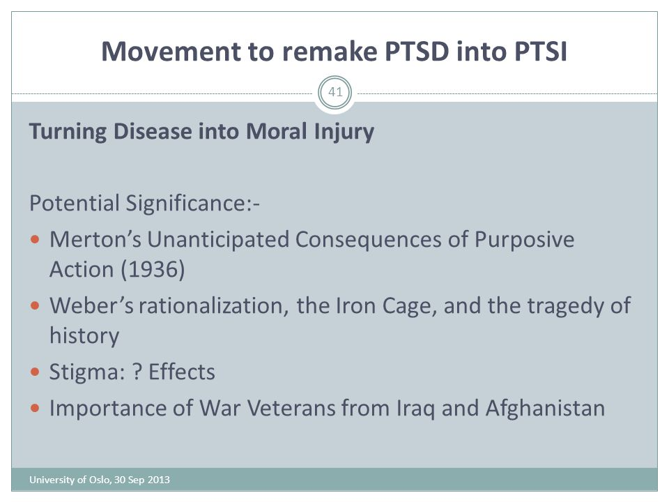 Movement to remake PTSD into PTSI