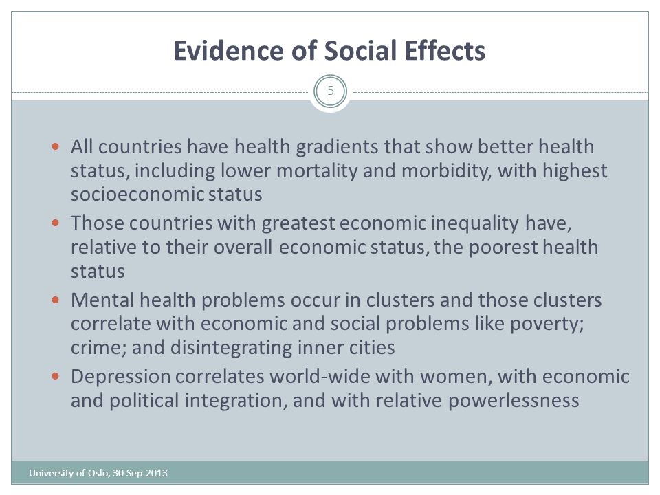 Evidence of Social Effects