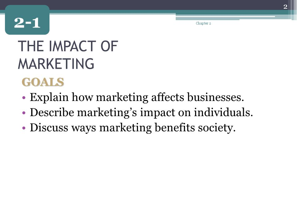 THE IMPACT OF MARKETING