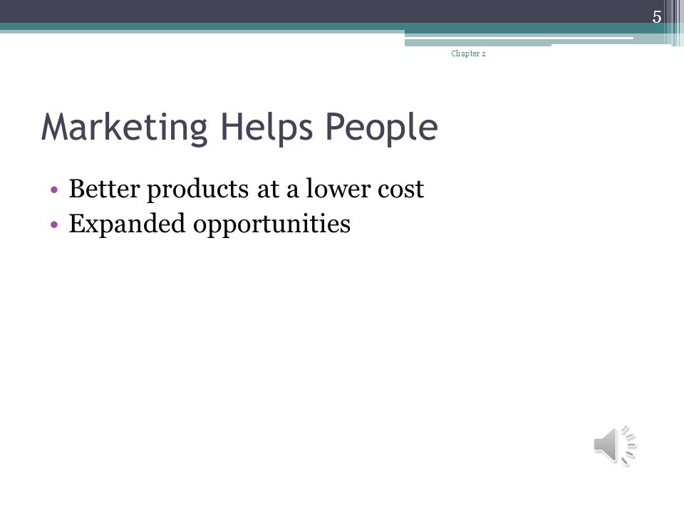 Marketing Helps People