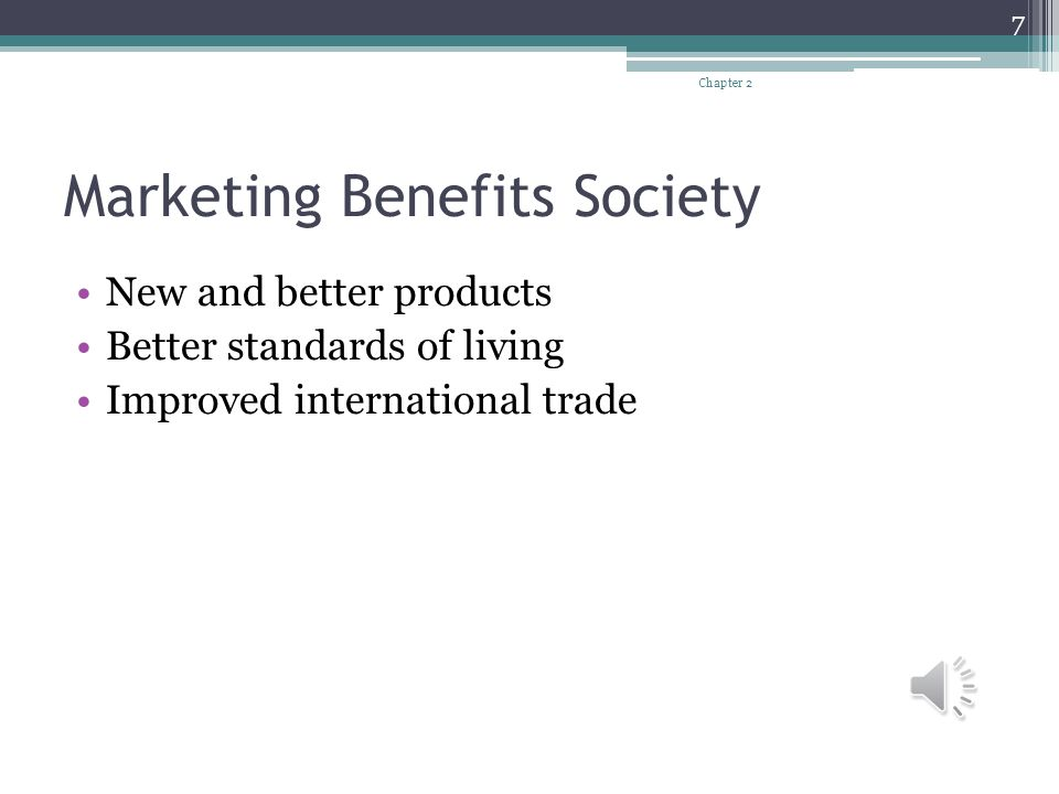 Marketing Benefits Society