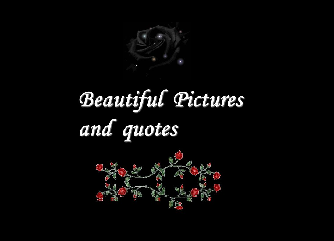 Beautiful Pictures and quotes