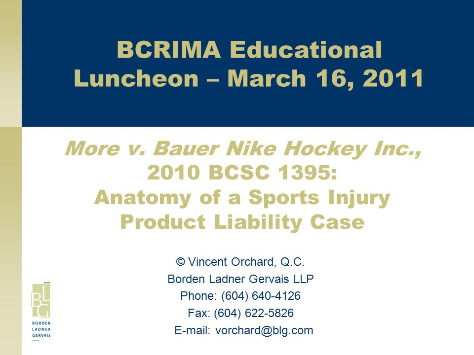 BCRIMA Educational Luncheon – March 16, 2011