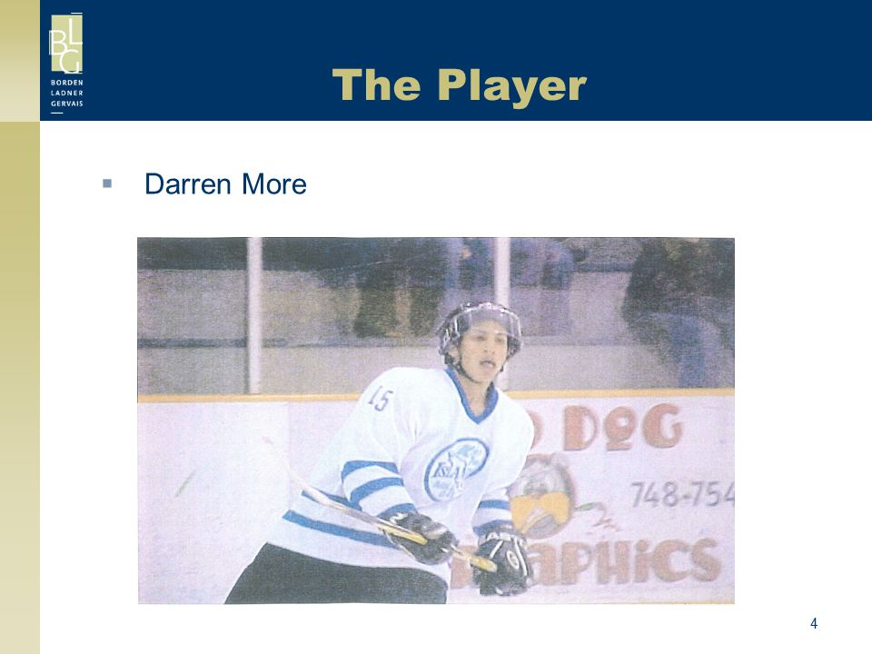 The Player Darren More