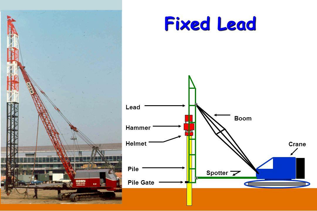 Fixed Lead Lead Boom Hammer Helmet Crane Pile Spotter Pile Gate