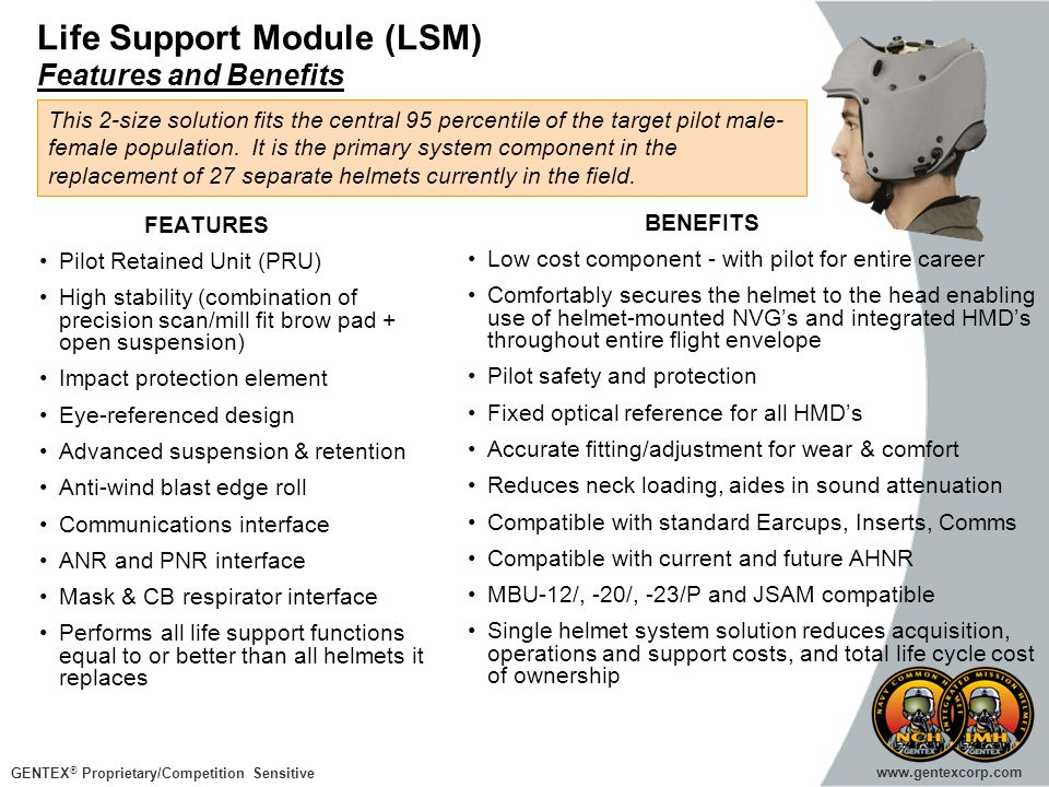 Life Support Module (LSM) Features and Benefits