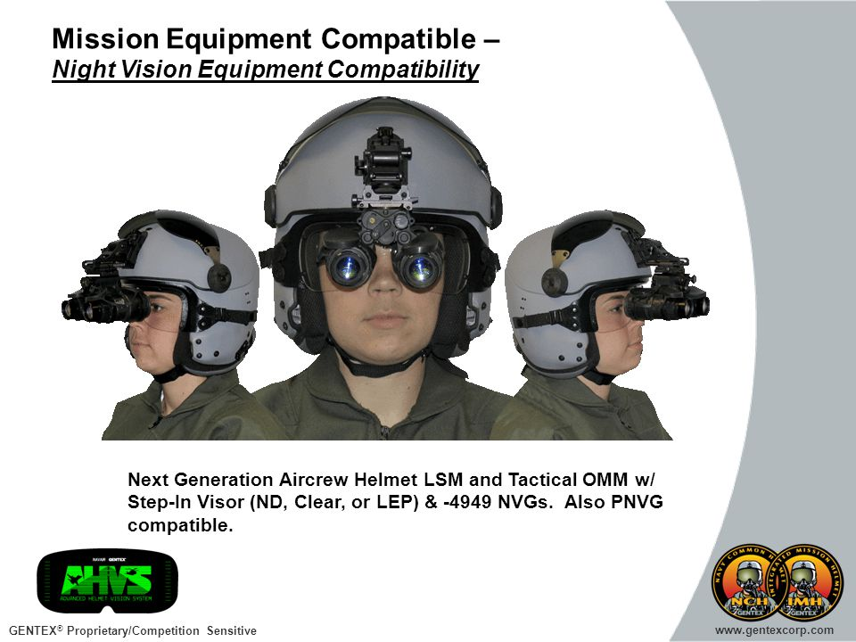 Mission Equipment Compatible – Night Vision Equipment Compatibility