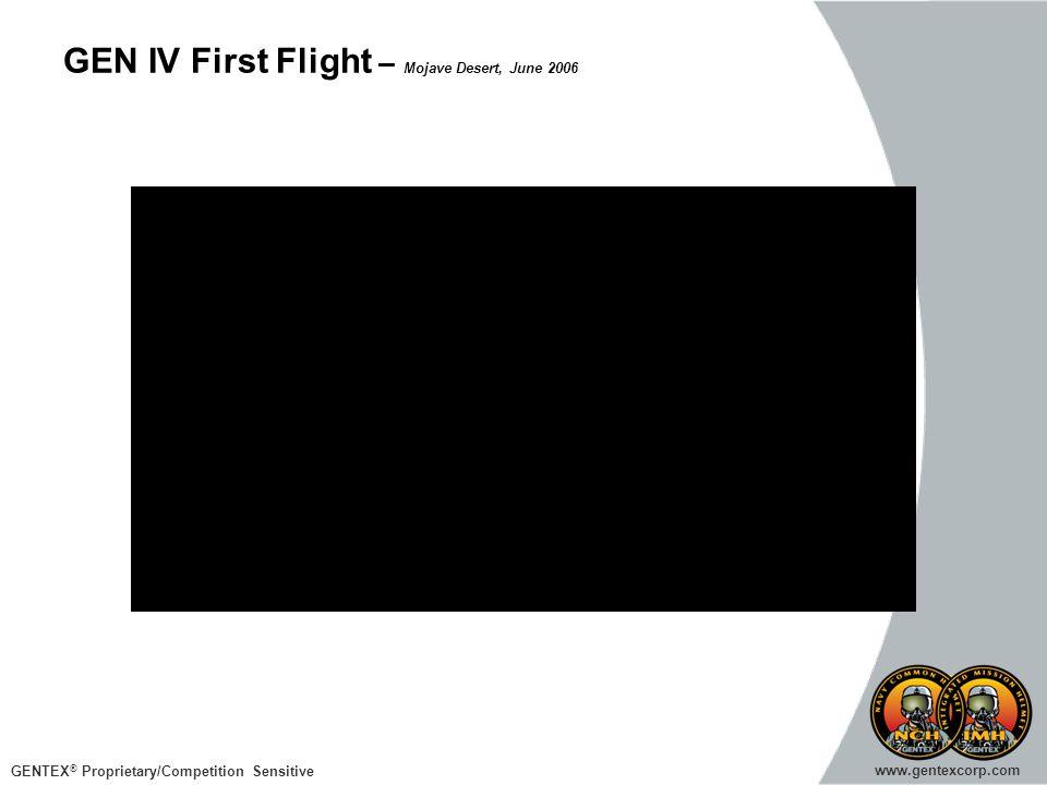 GEN IV First Flight – Mojave Desert, June 2006