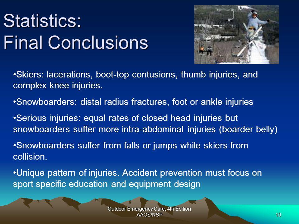 Statistics: Final Conclusions
