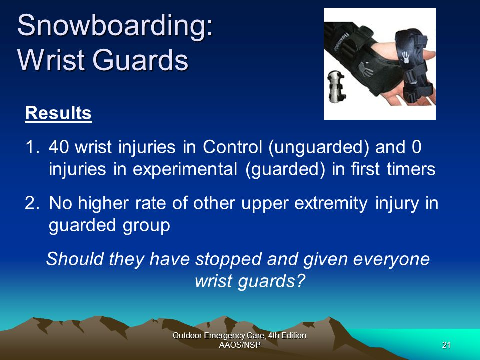 Snowboarding: Wrist Guards