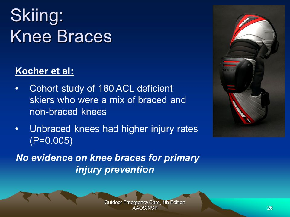No evidence on knee braces for primary injury prevention