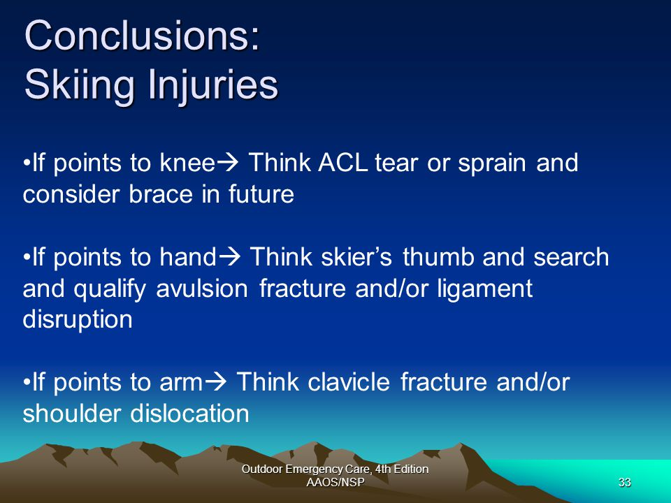 Conclusions: Skiing Injuries