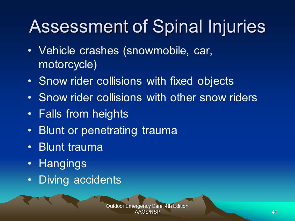 Assessment of Spinal Injuries