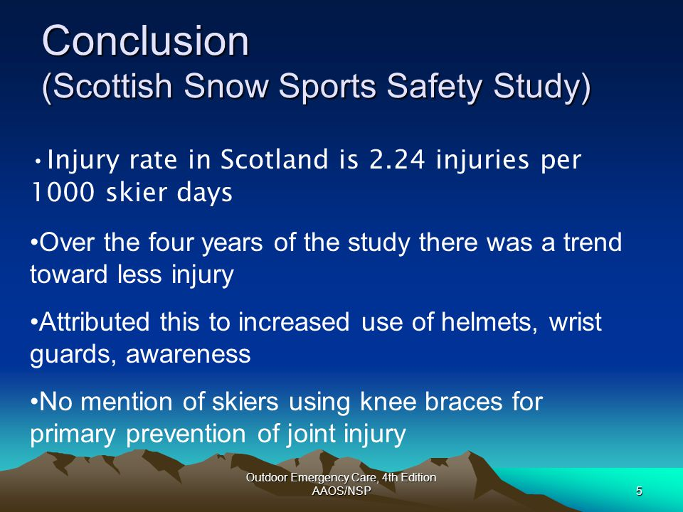 Conclusion (Scottish Snow Sports Safety Study)