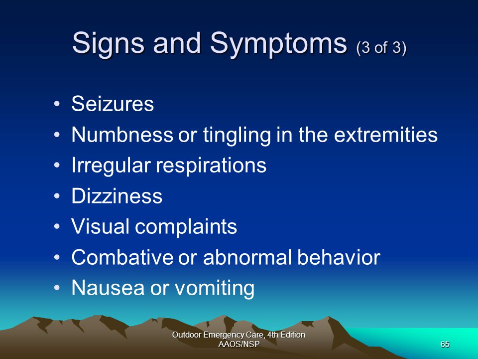Signs and Symptoms (3 of 3)