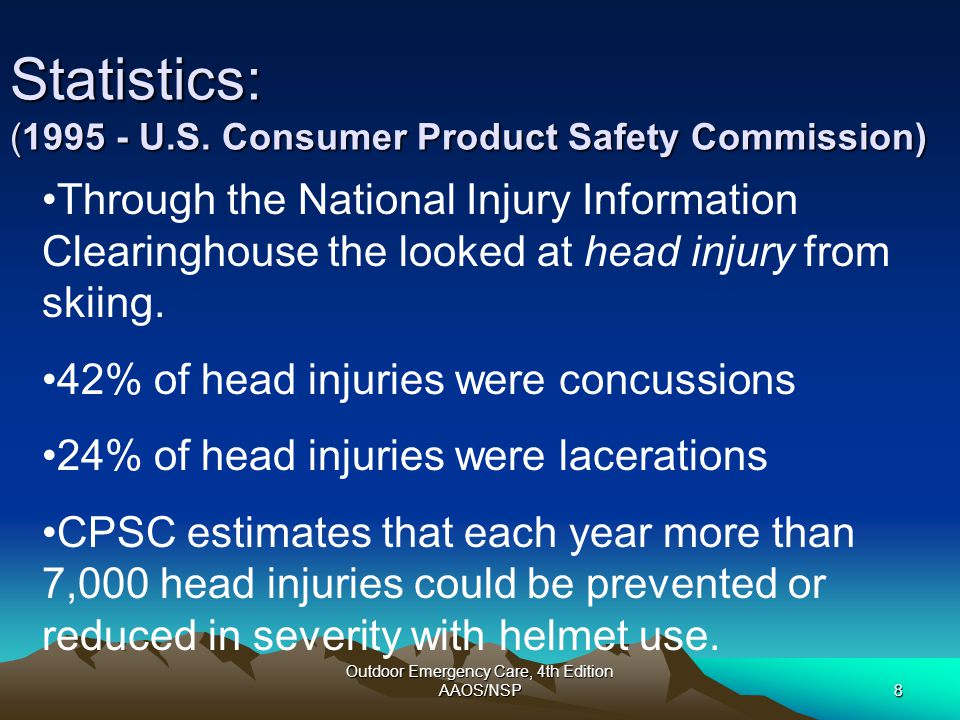 Statistics: (1995 - U.S. Consumer Product Safety Commission)