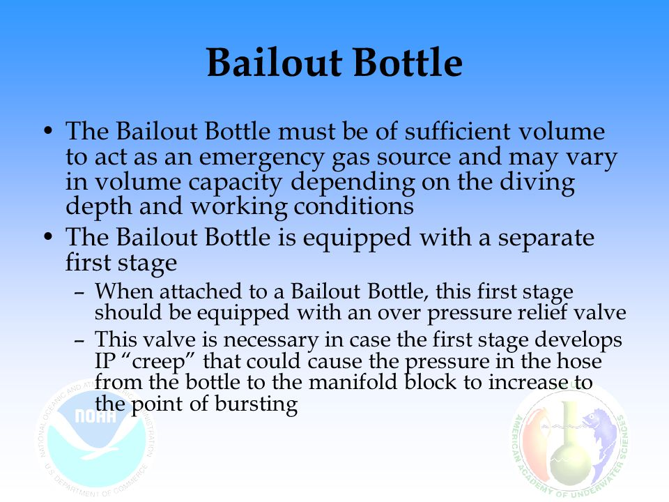 Bailout Bottle