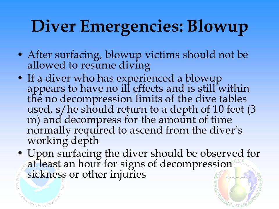Diver Emergencies: Blowup