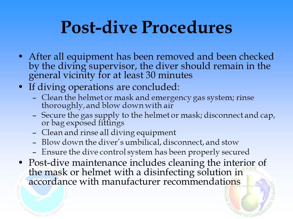 Post-dive Procedures