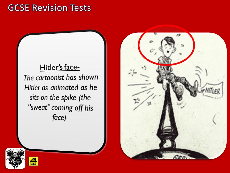 GCSE Revision Tests Hitler's face-