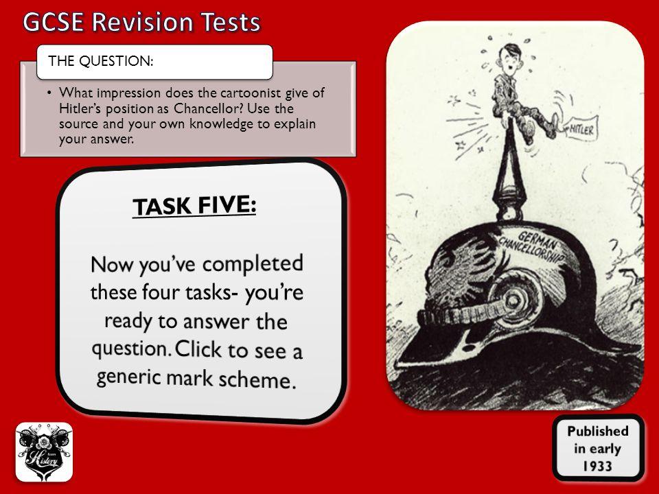 GCSE Revision Tests TASK FIVE: