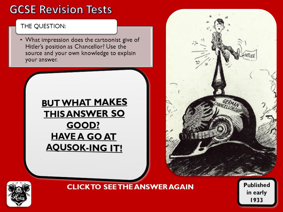 GCSE Revision Tests THE QUESTION: