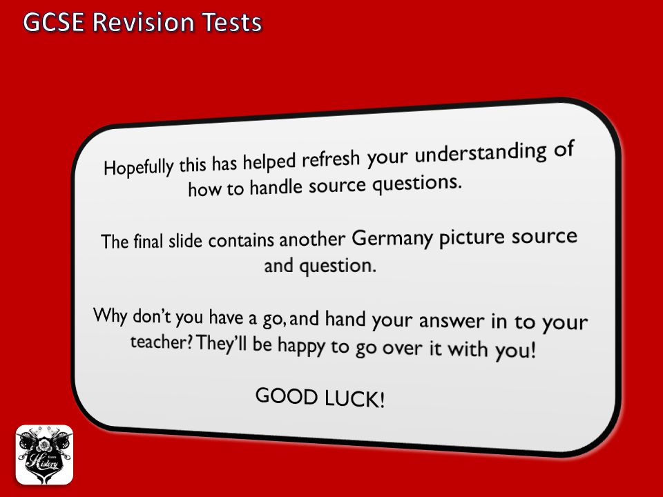 The final slide contains another Germany picture source and question.