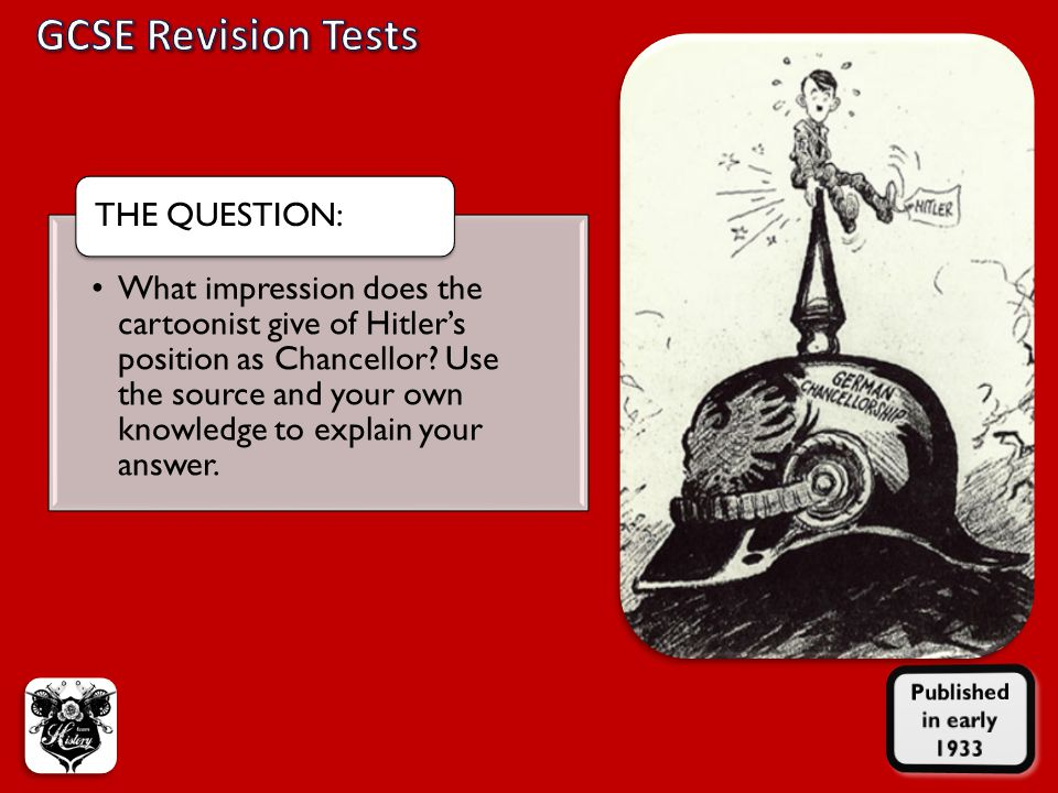 GCSE Revision Tests Published in early 1933