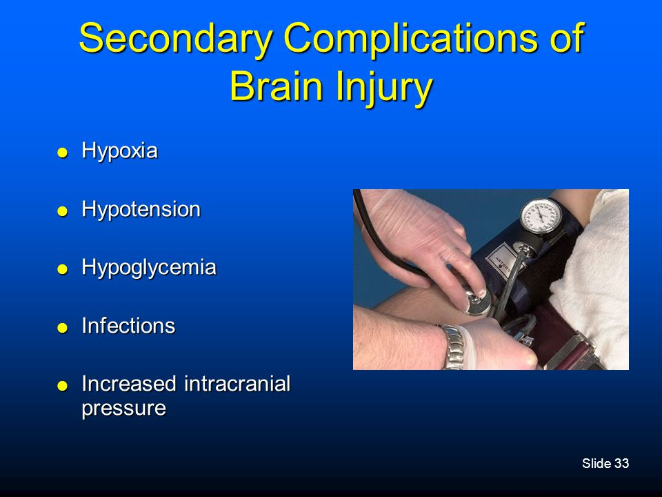 Secondary Complications of Brain Injury