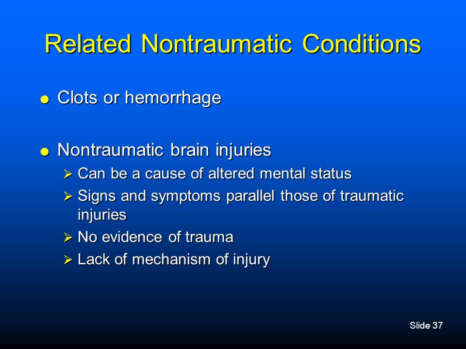 Related Nontraumatic Conditions