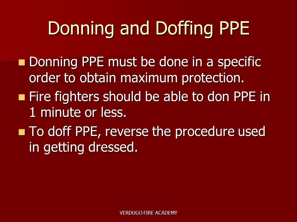 Donning and Doffing PPE