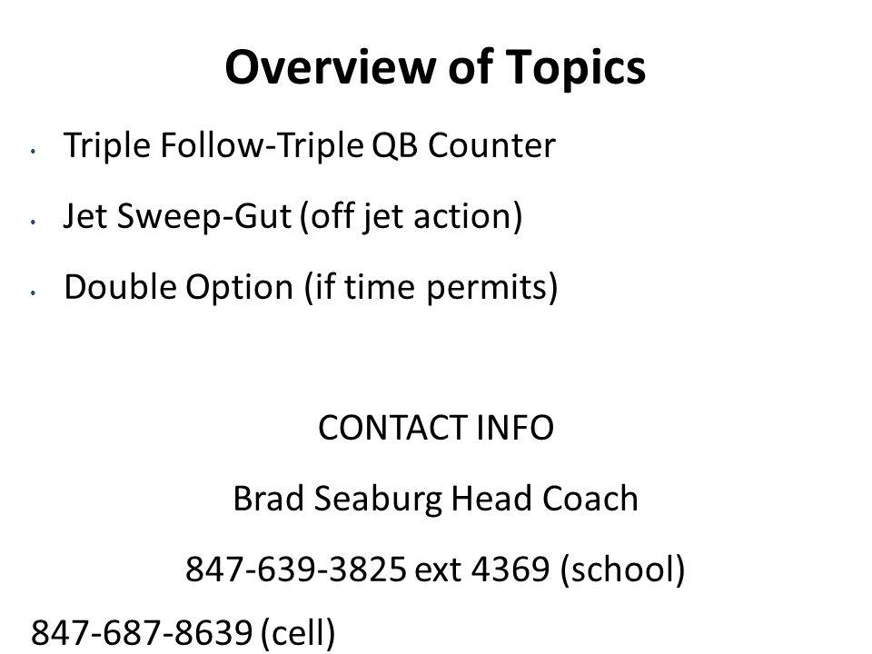 Brad Seaburg Head Coach