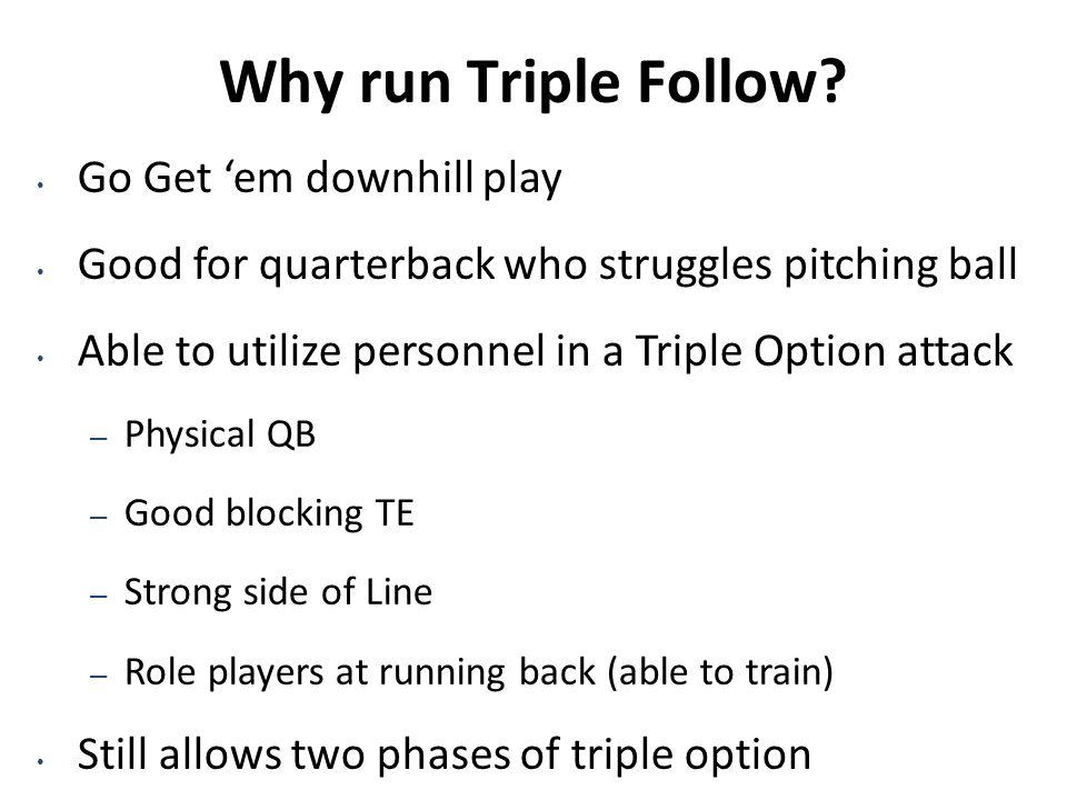 Why run Triple Follow Go Get 'em downhill play