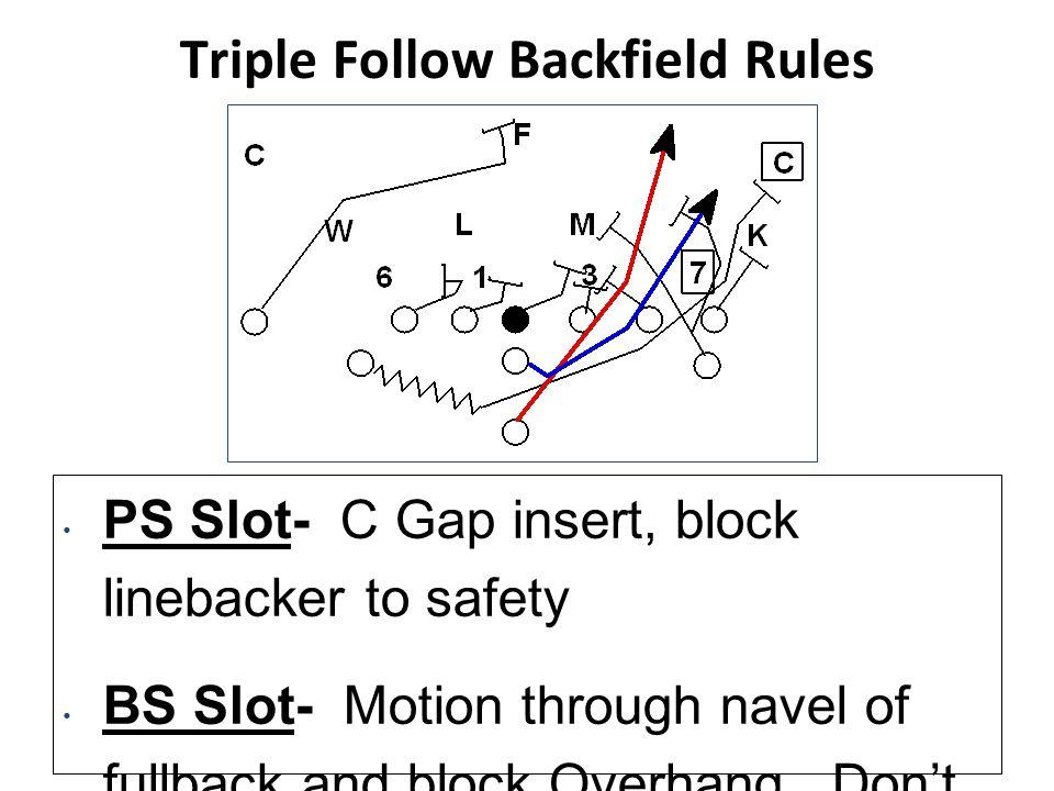 Triple Follow Backfield Rules
