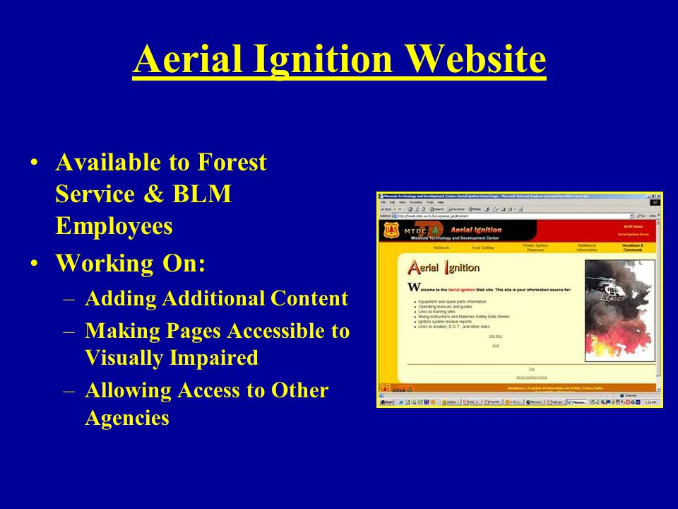 Aerial Ignition Website