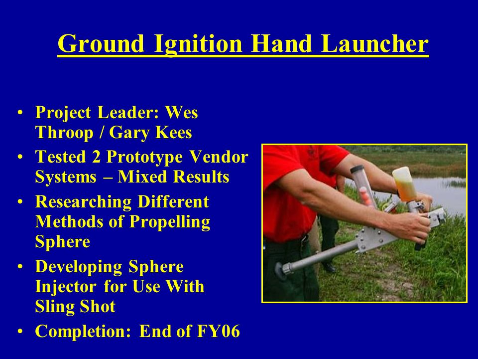 Ground Ignition Hand Launcher